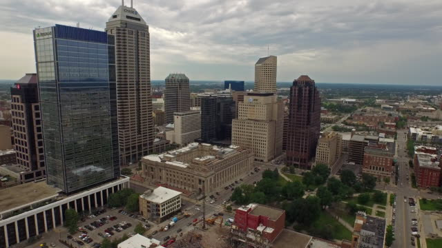 Aerial Indiana Indianapolis video