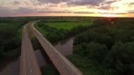 Aerial Iowa Countryside video