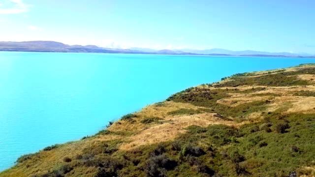 Aerial Lake Wakatipu and along the lake road,  NewZealand video