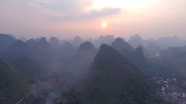 Aerial Landscape in Guilin video