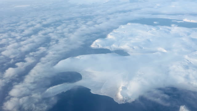 Aerial landscape of Arctic video