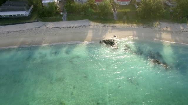 Aerial landscape of Mauritius Island video