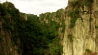 Aerial Limestone Mountain Karsts video