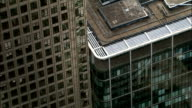Aerial London - Close-Up of 1 Canada Square, Canary Wharf video