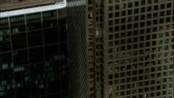 Aerial London - Flypast of windows in Canary Wharf video