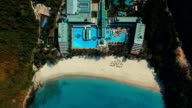 Aerial: Looking down on the beach. video