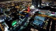 Aerial Miami at night video
