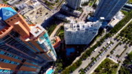 Aerial Miami Beach buildings video