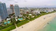 Aerial Miami Beach Florida video