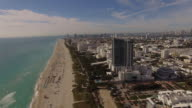 Aerial Miami Beach Florida video