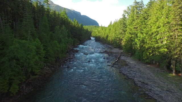 Aerial Montana Glacier National Park video