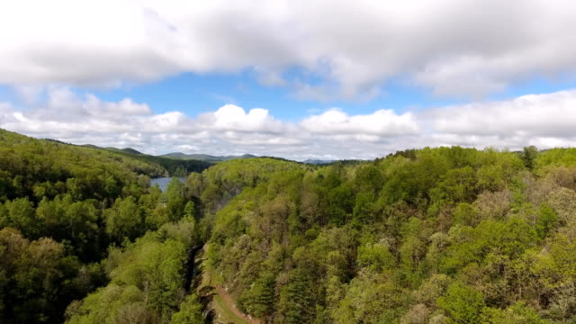Aerial mountain views in Western North Carolina video