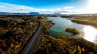 Aerial Myvatn Landscape in Iceland video