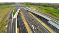 Aerial New Jersey Turnpike video