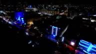 Aerial night video Ocean Drive Miami Beach video