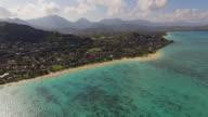 Aerial Oahu Lanikai Beach video