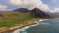 Aerial Oahu Ohikilolo Beach Park video