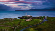 Aerial of Fanad Head Lighthouse, Donegall video
