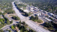Aerial of Freeway and Off Ramp video