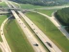 Aerial of Highway video