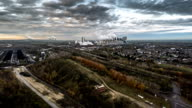 Aerial of Industrial Landscape video