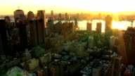 Aerial of New Jersey and Downtown Manhattan, NY, USA video