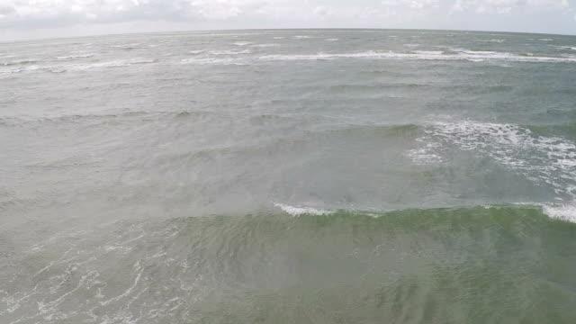 Aerial of sea / shoreline video