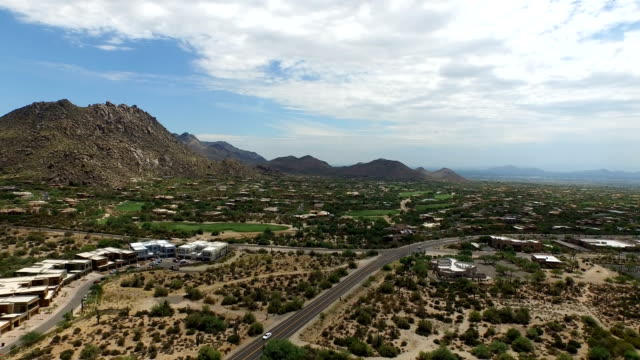 Aerial of Troon Mountain and Troon Golf Course video
