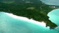 Aerial of tropical island peninsula video