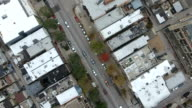 Aerial of Wicker Park Roofs video