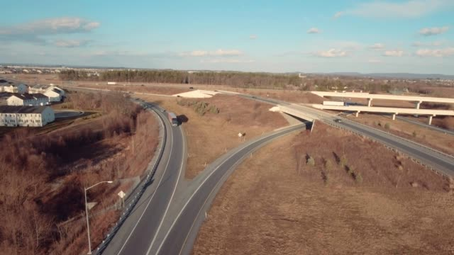 Aerial on-ramp and off-ramps video