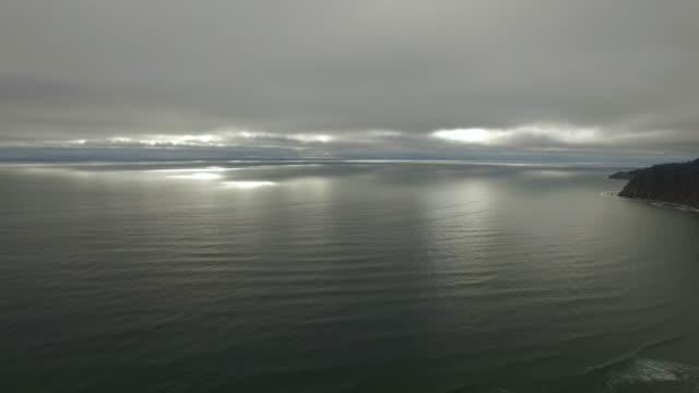 Aerial Oregon Canon Beach video