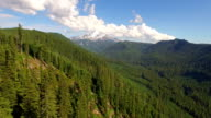 Aerial Oregon Mt Jefferson video