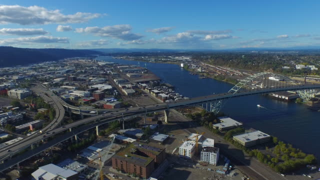 Aerial Oregon Portland video
