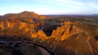 Aerial Oregon Smith Rock video