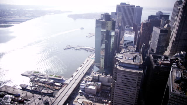 Aerial over East Manhattan video