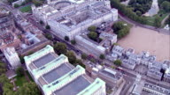 HD aerial over Whitehall, London, UK video