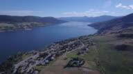 Aerial Pan of Lake video