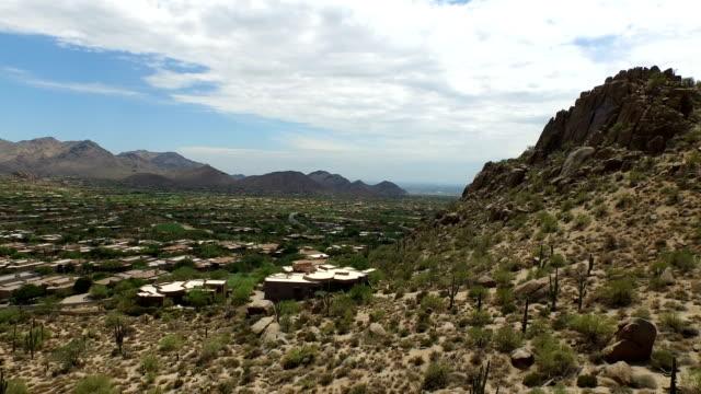 Aerial Pan of Pinnacle Peak Landscape and Luxury Homes video