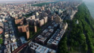 NYC Aerial Panning Upward Shot Of Upper Westside video