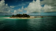 Aerial Panoramic of a Private Island video