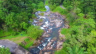Aerial Panoramic view of rainbow Waterfall at south Thailand video