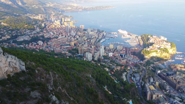 Aerial Panoramic View of the Principality of Monaco video