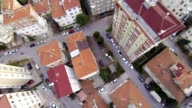 Aerial perspective of apartment buildings video