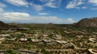 Aerial Pinnacle Peak Landscape and Luxury Homes video