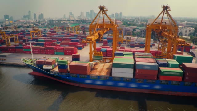 Aerial : Port Container Terminal video