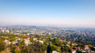 Aerial right to left of downtown Los Angeles skyline and the massive size of Los Angeles. video