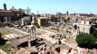 Aerial Roman Forum of Rome video