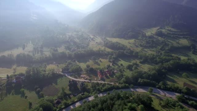 Aerial rural landscape video