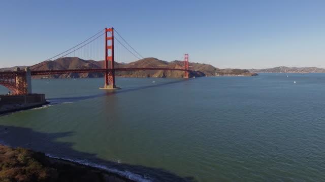 Aerial San Francisco Golden Gate Bridge video